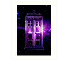 Galaxy TARDIS Art Print