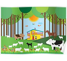 Farm in the forest Poster
