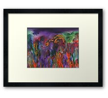 The Flaming Land Framed Print