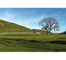 Pasture Land at Thorpe, Derbyshire Photographic Print