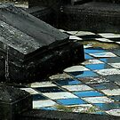 Grave Tiles In Blue& White by peperkoorn