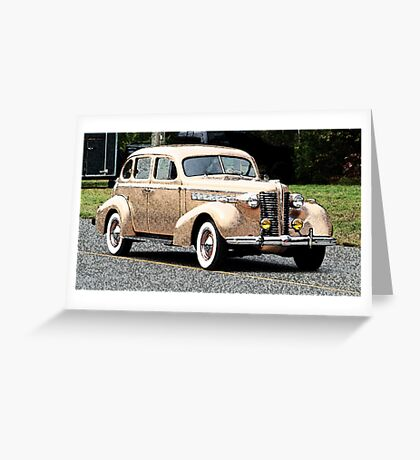 1938 Buick Classic Car Greeting Card