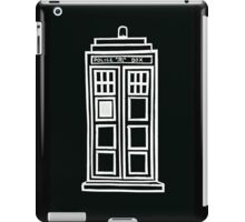 Black and white TARDIS iPad Case/Skin