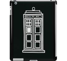 Black and white TARDIS iPad Case/Skin