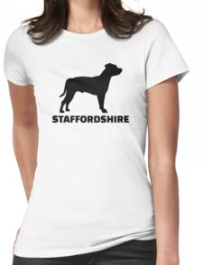 Staffordshire Terrier Womens Fitted T-Shirt
