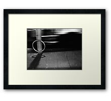 Play 'Beat The Bus' Wit Me? Framed Print