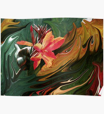Bird of Paradise Swirl Poster