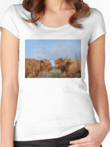 Scottish Highland Cattle Women's Fitted Scoop T-Shirt