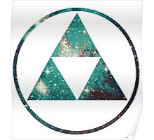Galaxy - Triforce Poster