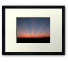 Good Night Sunshine-Crepuscular Rays Framed Print