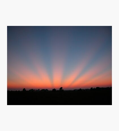 Good Night Sunshine-Crepuscular Rays Photographic Print