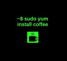 Linux sudo yum install coffee by boscorat