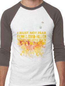 Litany Against Fear Men's Baseball ¾ T-Shirt