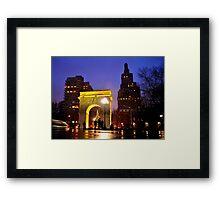 Washington Park at Christmas Framed Print