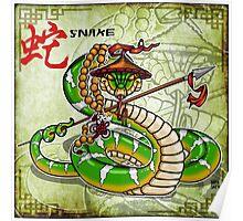 Snake Spear Poster