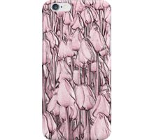 Tulips - pink line art iPhone Case/Skin