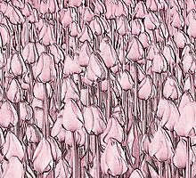 Tulips - pink line art by PhotosByHealy