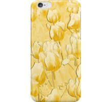 Yellow Tulips II line art iPhone Case/Skin