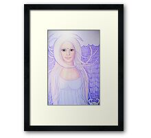 Wearing my moon today Framed Print