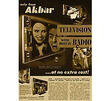 Akbar TV Company [pvt]- Pakistan's best HDTV of 1952 Photographic Print