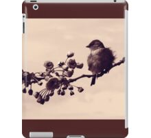 Flowered Finch iPad Case/Skin