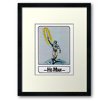 He-Man - He-Man - Trading Card Design Framed Print