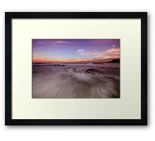 Newcastle Beach at Dusk Framed Print