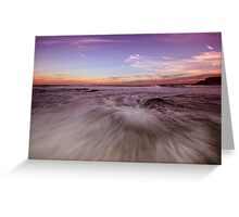 Newcastle Beach at Dusk Greeting Card