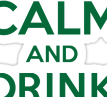 Celtic-Inspired 'Keep Calm and Drink Like a Kennedy' Irish Last Name T-Shirts, Hoodies and Gifts Sticker
