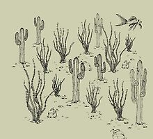 desert landscape with fish by dai-dai