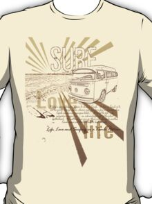 Volkswagen Kombi Tee shirt - Surf, Life and Love T-Shirt