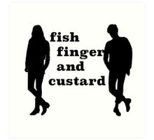 Fish finger and custard Art Print