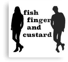 Fish finger and custard Metal Print