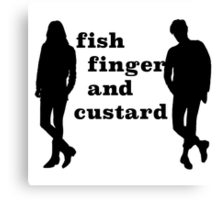 Fish finger and custard Canvas Print