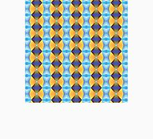 Blue And Gold Abstract Pattern Unisex T-Shirt