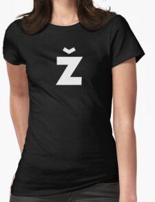 Žižek's Ž (white, sharp Z) Womens Fitted T-Shirt