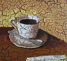 Coffee Art---Oil painting on canvas by Amy zeng