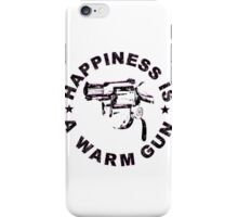 Happiness Is A Warm Gun (Inspired By John Lennon / Andy Warhol)  iPhone Case/Skin