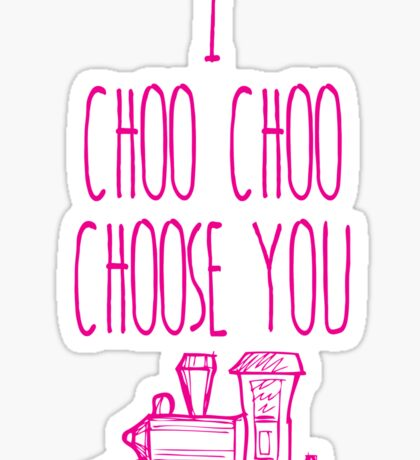 I Choo Choo Choose You Valentines Gift Sticker