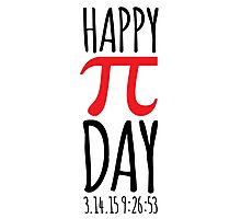 Pi-Day T-Shirt Photographic Print