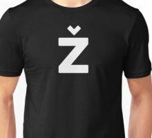 Žižek's Ž (white, balanced Z) Unisex T-Shirt