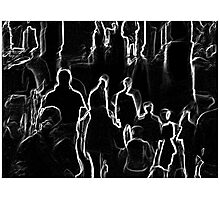 Black and White Crowd #1 Photographic Print