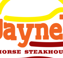 Jayne's Horse Steakhouse. Sticker