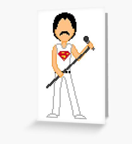 Pixel Freddie Greeting Card