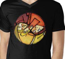 Love Ying-Yang Mens V-Neck T-Shirt