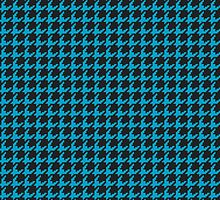 Houndstooth Turquoise by goodedesign