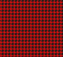Houndstooth (RED) by goodedesign