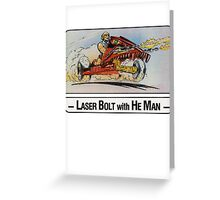 He-Man - Laser Bolt - Trading Card Design Greeting Card