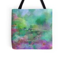 Pastel Impressions of Monet's Water Lily Pond Tote Bag