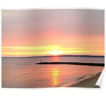 Beautiful Sunset on the Beach Poster